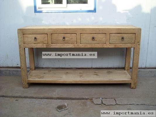 Consola madera china muebles chinos muebles orientales - Muebles orientales segunda mano ...