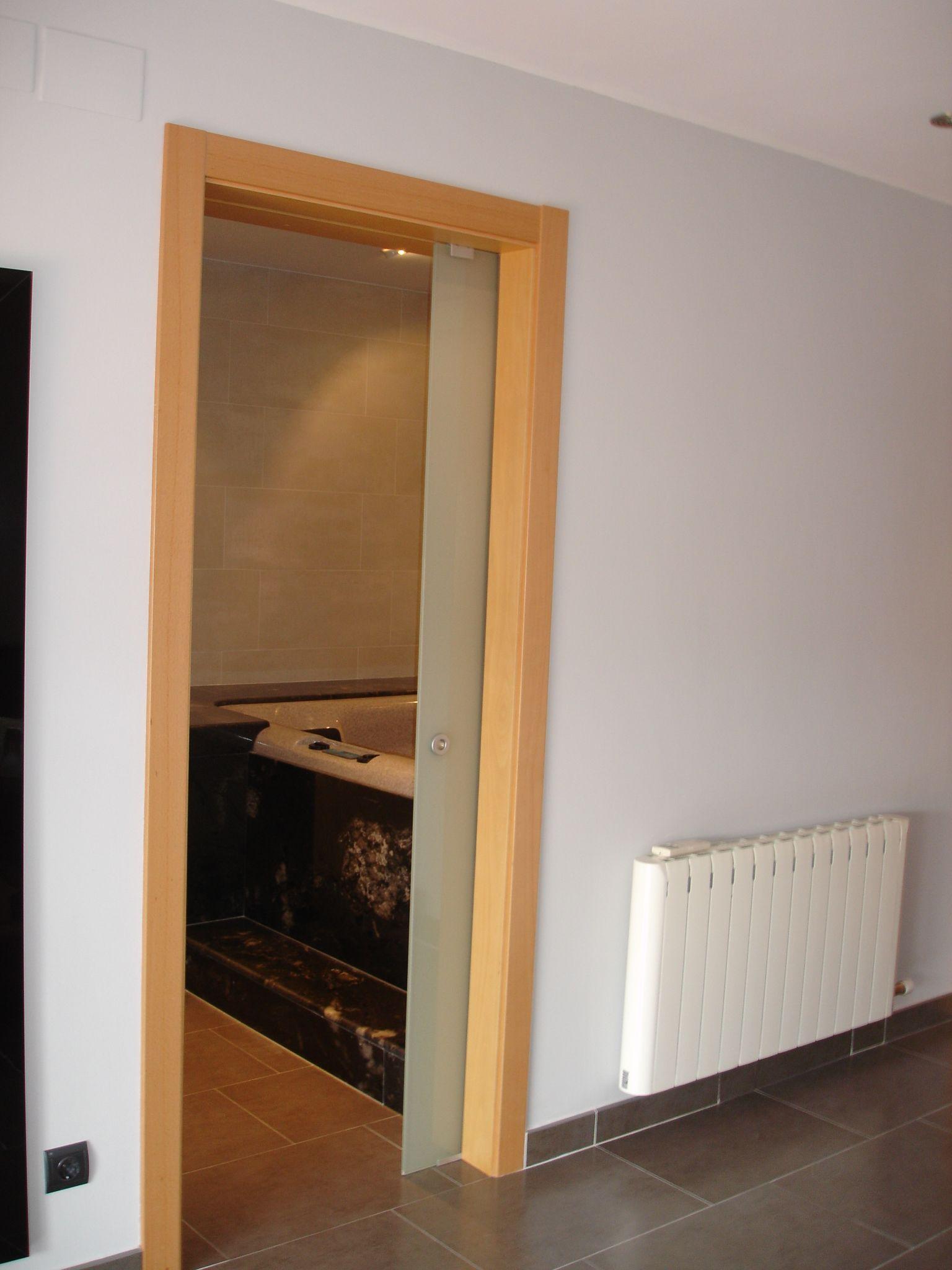 Puerta corredera de vidrio para ba o ideas para ba os pinterest ideas para - Puertas correderas de cristal para banos ...