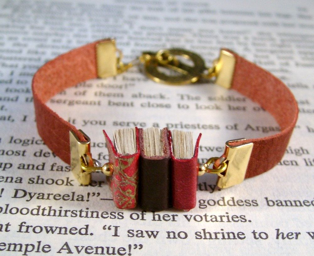 Miniature Book Bracelet!