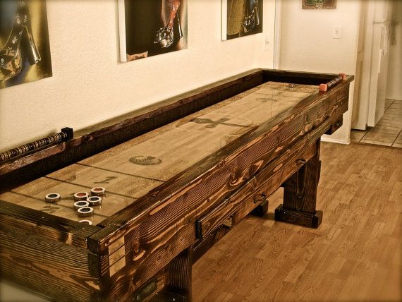 Terrific Custom Shuffleboard Table In The Ultimate Game Room Via Download Free Architecture Designs Sospemadebymaigaardcom