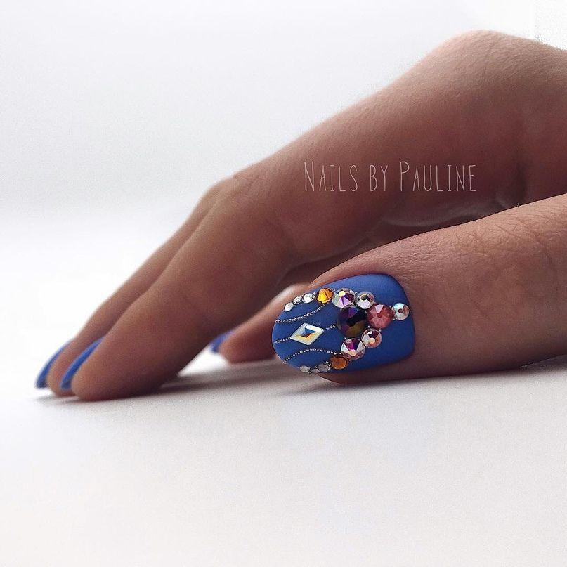30 Amazing Rhinestone Nail Art Designs Ecstasycoffee: 30 Amazing Matte Nail Designs You'll Want To Copy
