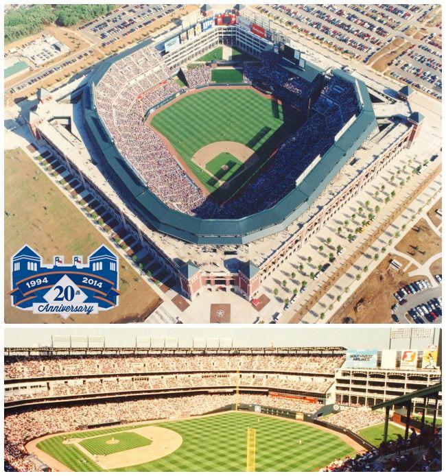 The Ballpark Hosts Its First Regular Season Game 20 Years Ago Today 4 11 94 Celebrate20 Texas Rangers Baseball Tx Rangers Major League Baseball Stadiums