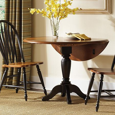 Make A Diy Round Circular Drop Leaf Table Drop Leaf Table Dining Table Pedestal Dining Table