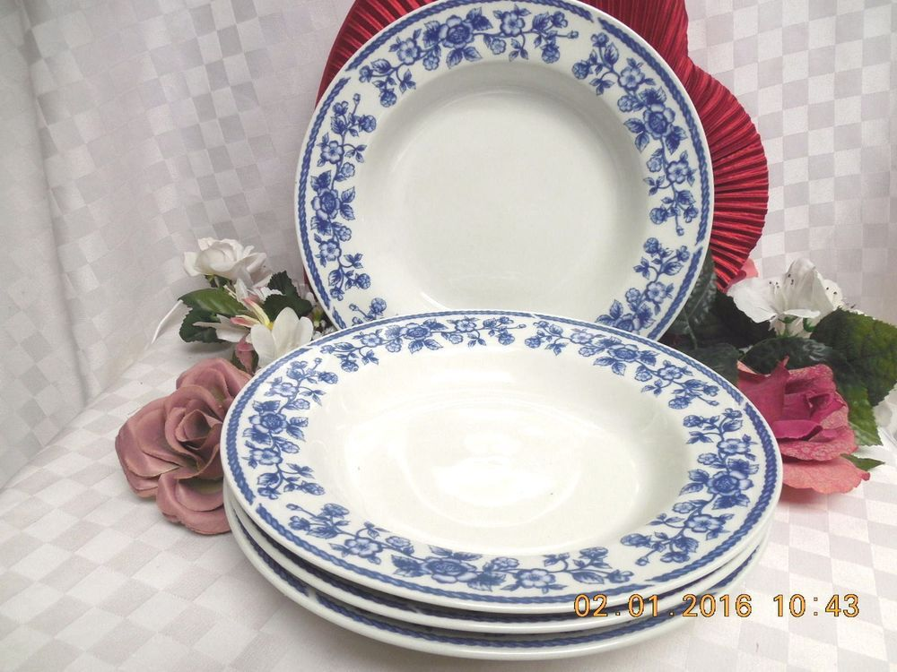 Blue Chintz by Farberware Casual Concepts Blue Roses Blue Rope 4 Soup bowl # & Blue Chintz by Farberware Casual Concepts Blue Roses Blue Rope 4 ...