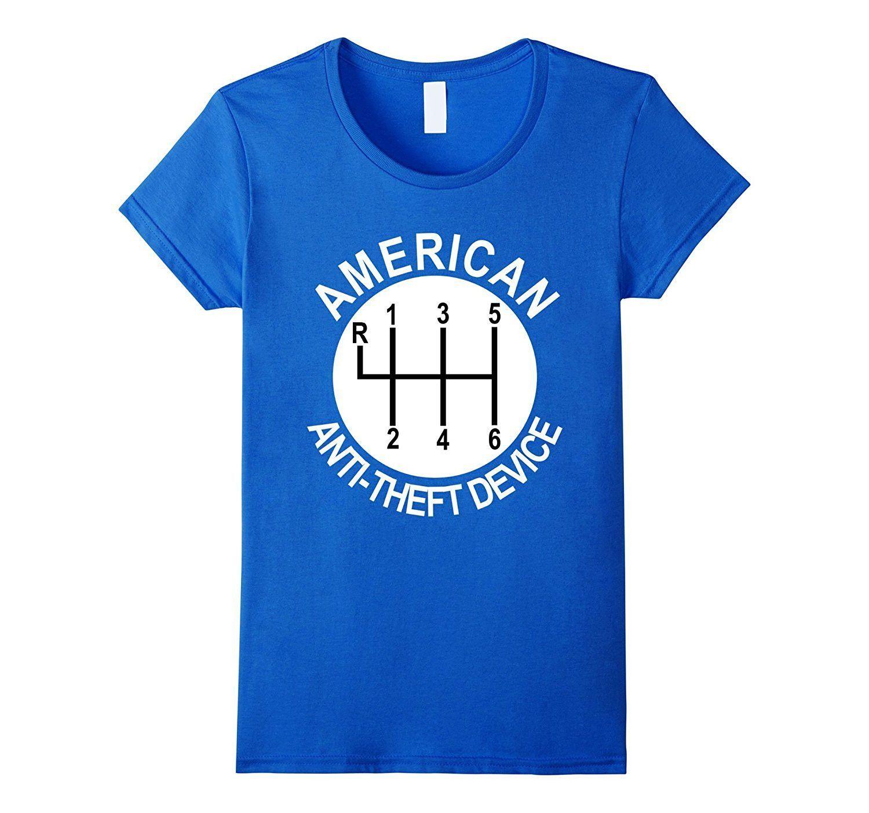 American anti theft mechanic t shirt car manual shift knob