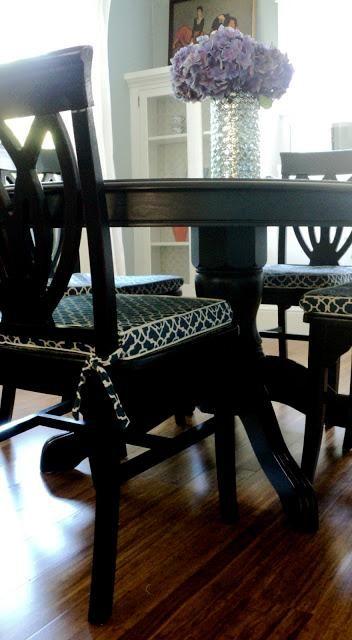 DIY Furniture : DIY Dining Room Chair Cushion Slipcover | DIY ...