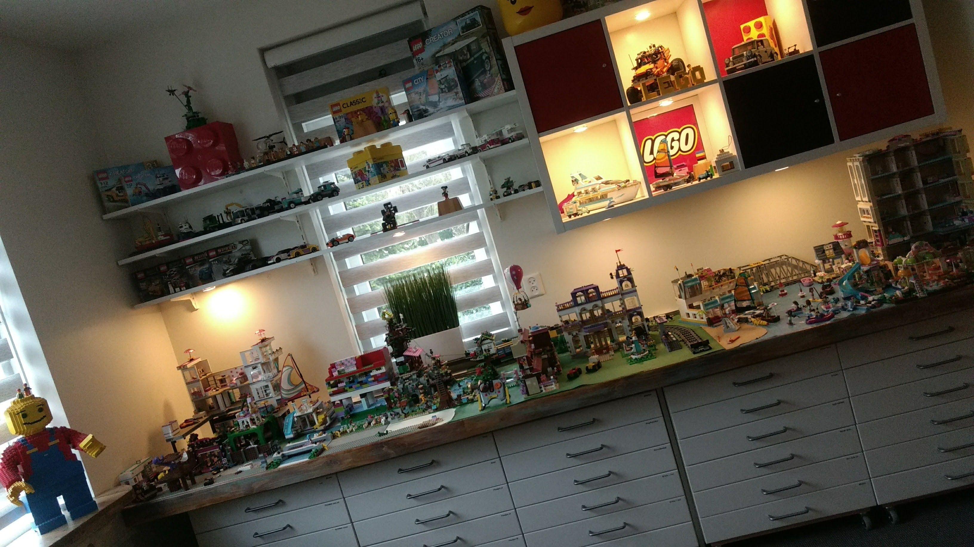 Lego Werkruimte Met Ikea Kallax En Method Kasten Playroom