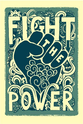 """Fight the Power!"" #activism #feminism #illustration"