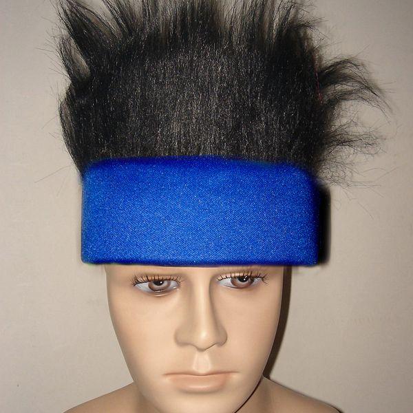 dark blue team sports wig