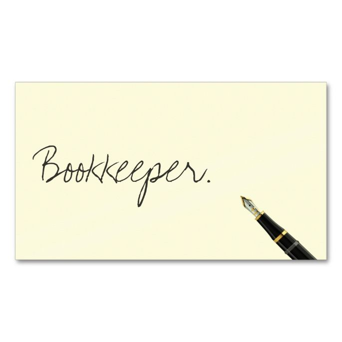 Free handwriting script bookkeeper business card business cards free handwriting script bookkeeper business card reheart Choice Image