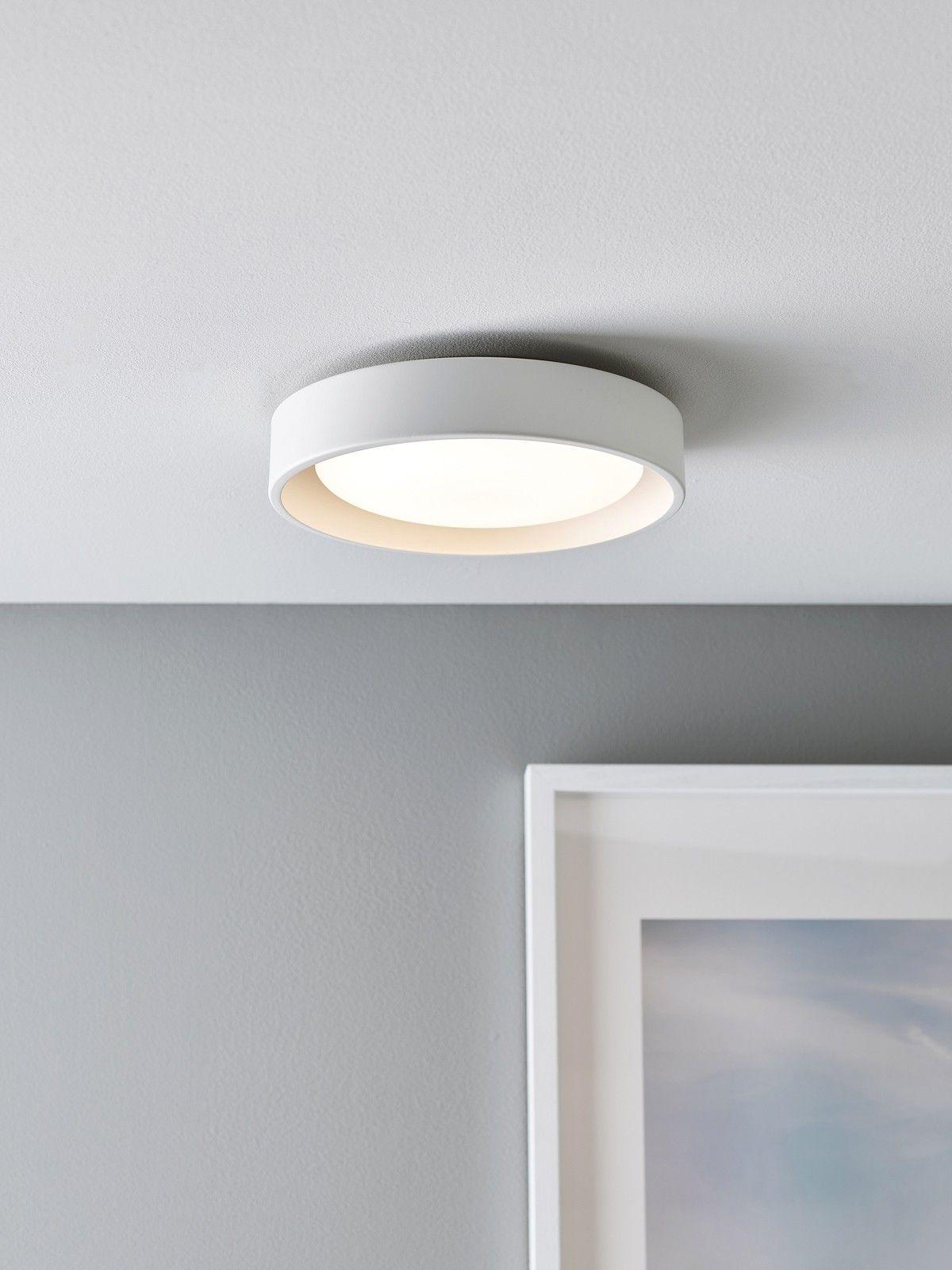 Uno 250mm 1 Light Flush Mount In White Flush Mount Ceiling Lights Modern Flush Mount Ceiling Light Ceiling Lights