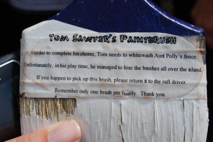 Image result for paint brushes on tom sawyer's island