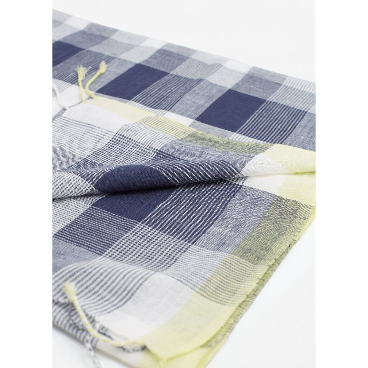 Foulard coton à carreaux bleu marine foncé Mango Kids   La Redoute ... 4fb545f9cd3