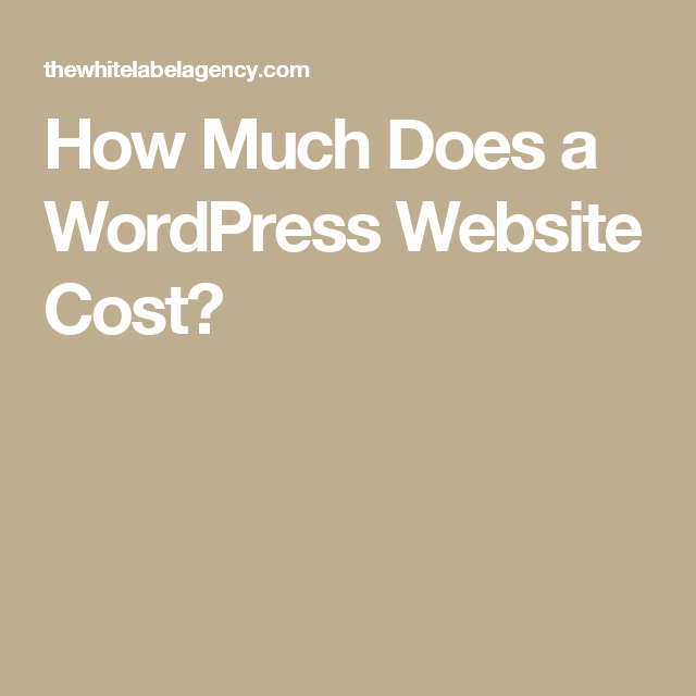 How Much Does a WordPress Website Cost?