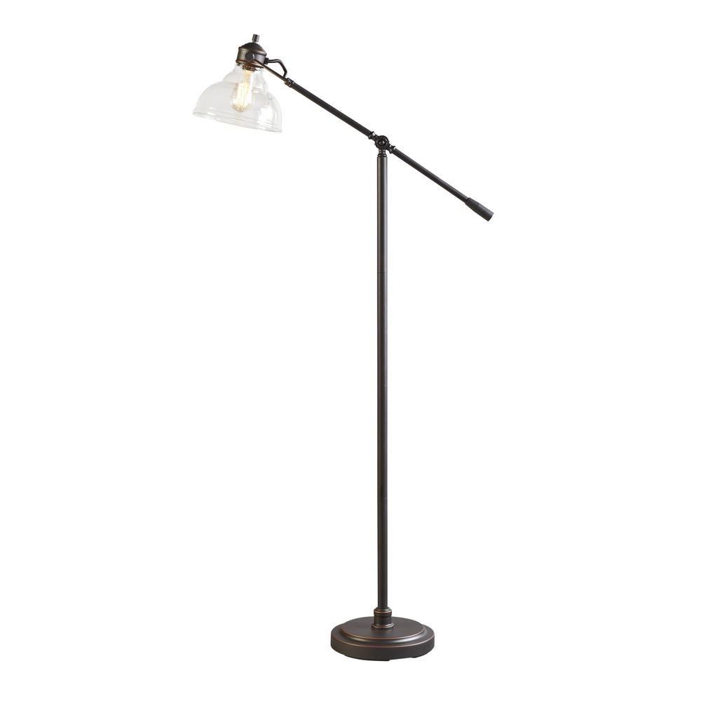 Hampton Bay 54 5 In Oil Rubbed Bronze Counter Balance Floor Lamp 20045 001 The Home Depot Lamp Floor Lamp Bronze