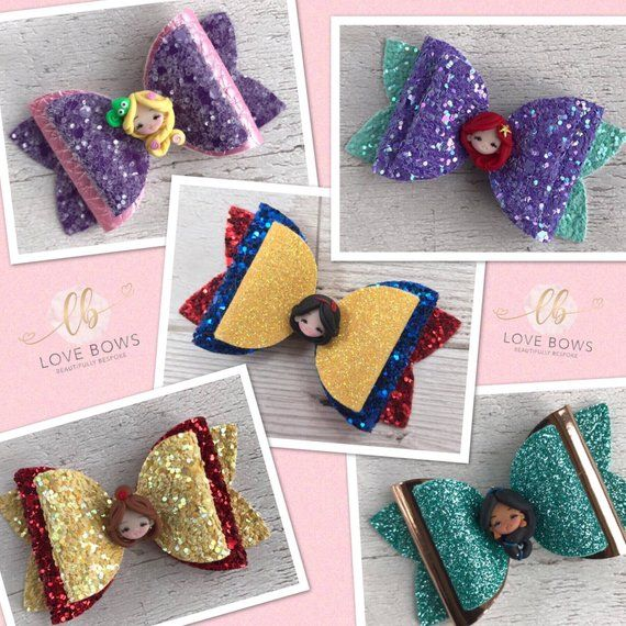 Sparkle Like a Princess With These Glitter Fueled Hair Bows #hairbows