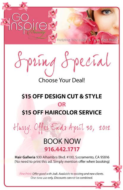 Go Inspire Beauty Salon Promotions Home Hair Salons Salon Marketing