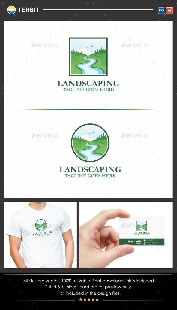 Landscaping Gardening Logo The Logo Is Very Simple And Clean