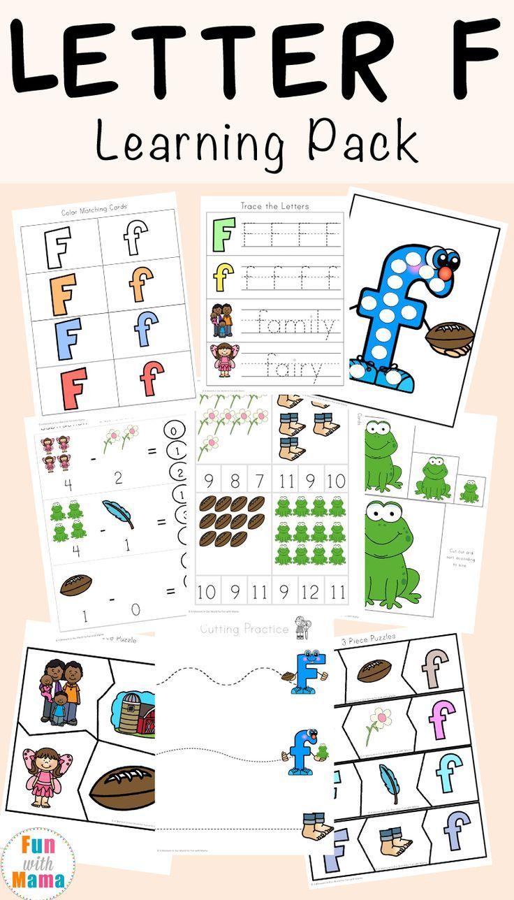 Free Letter F Worksheets Kindergarten Letters Letter F Letter Activities