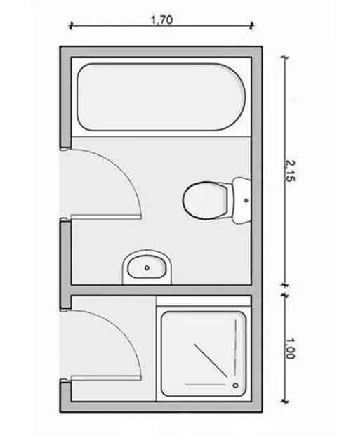 Pin De Gabriela Wagner En Arquitectura Planos De Banos Diseno