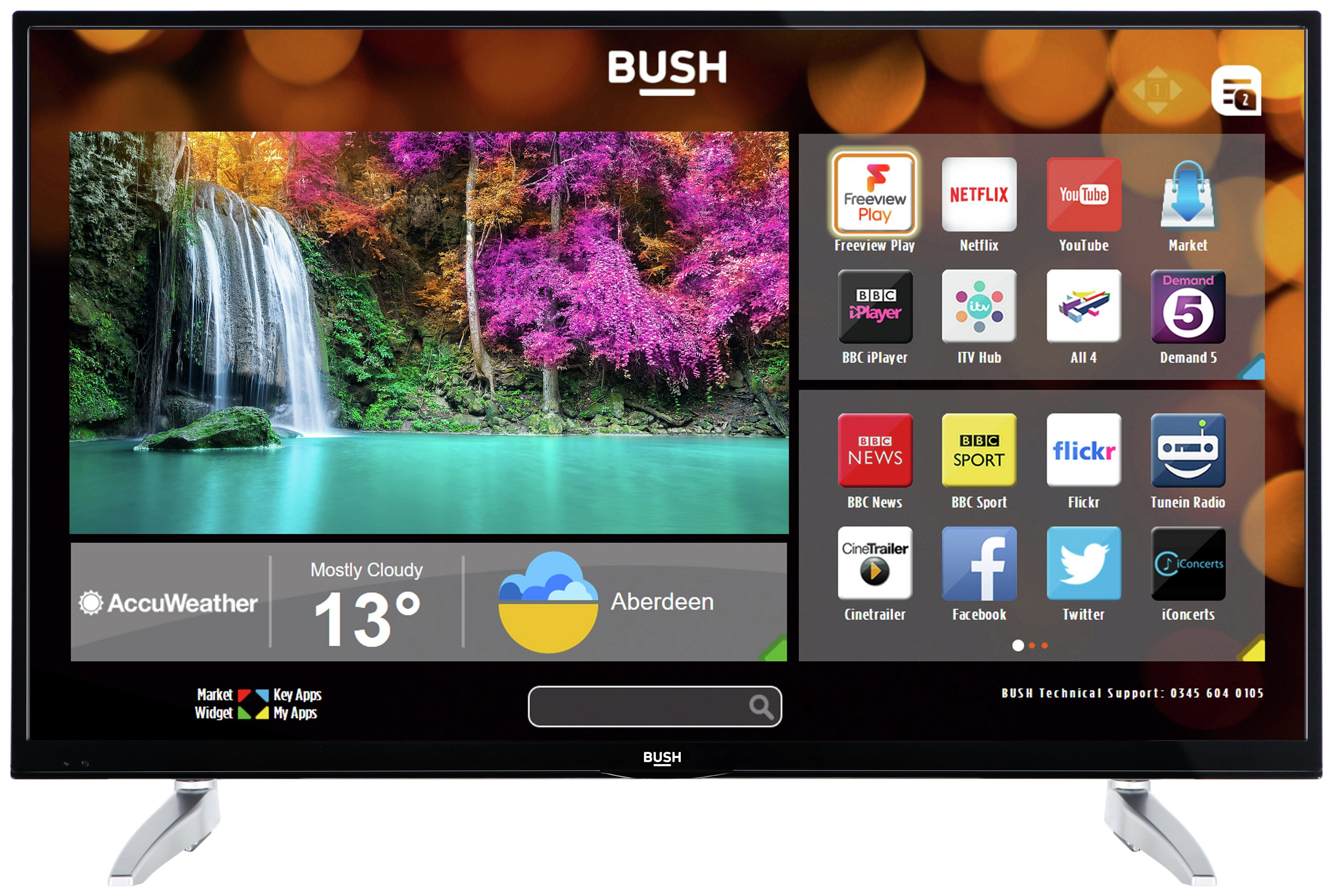 Bush 43 Inch 4k Ultra Hd Smart Tv Smart Tv Uhd Tv Tvs