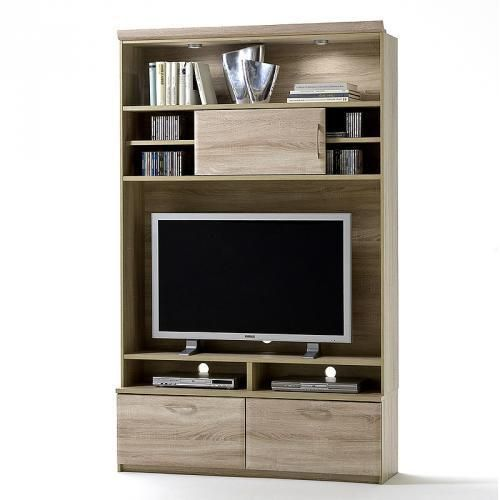 neu tv schrank sonoma eiche wohnzimmerschrank led fernsehschrank regalschrank in m bel. Black Bedroom Furniture Sets. Home Design Ideas