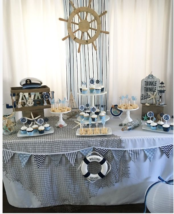 Nautical Baby Shower Beach Boy