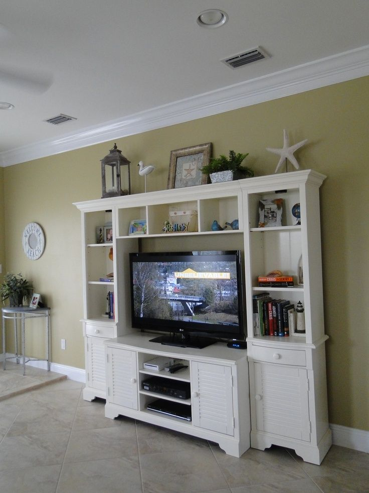 Decorating tops of entertainment centers pinterest