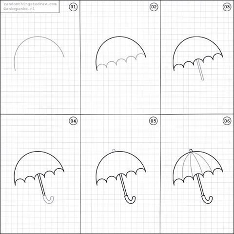 How to draw an umbrella how to draw and paint for Fun things to draw