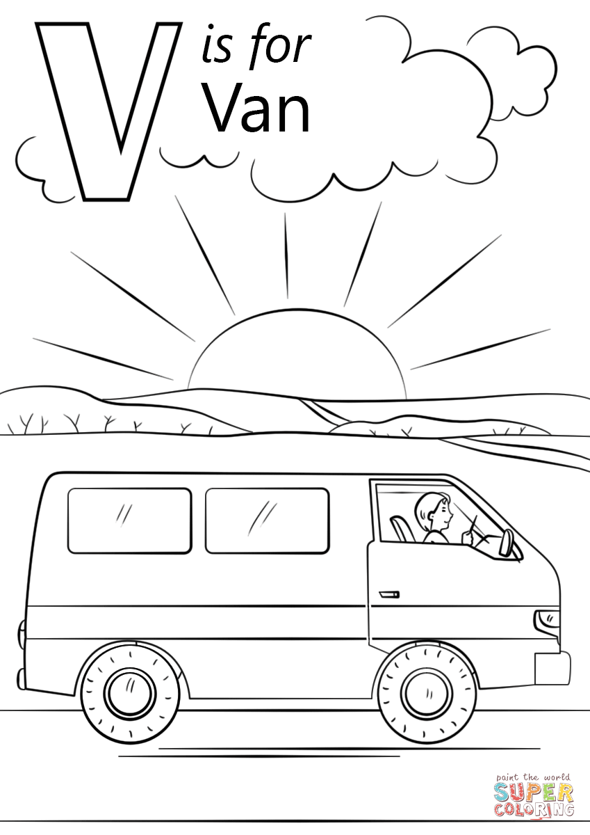 Letter V Coloring Page | All Kids Network | 1200x849