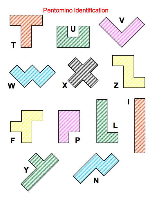 photo relating to Pentominoes Printable titled Heres a packet with a selection of challenge resolving functions