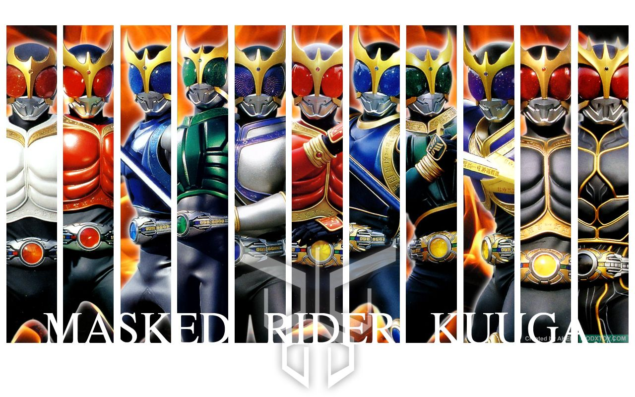 Kamen Rider Kuuga all forms