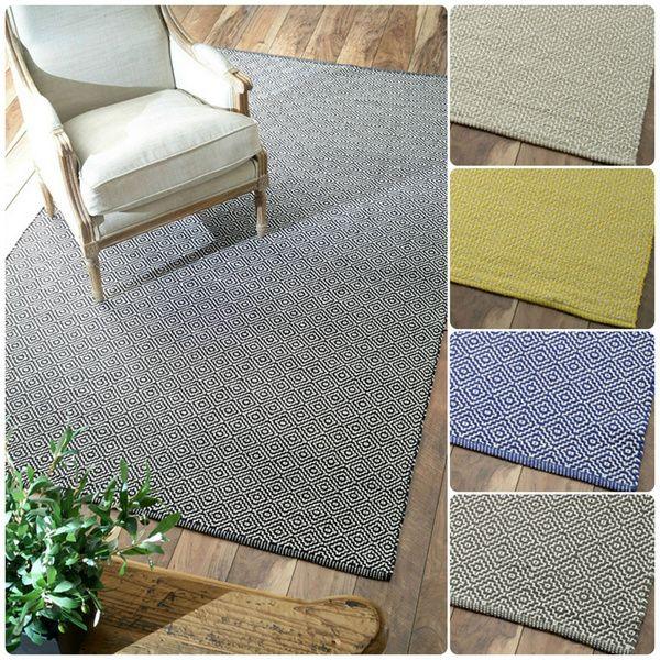 nuloom handmade flatweave diamond cotton rug 5u0027 x 8u0027 by nuloom