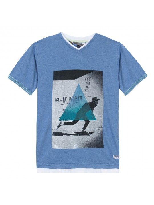 Camiseta Azul Gris B-Karo