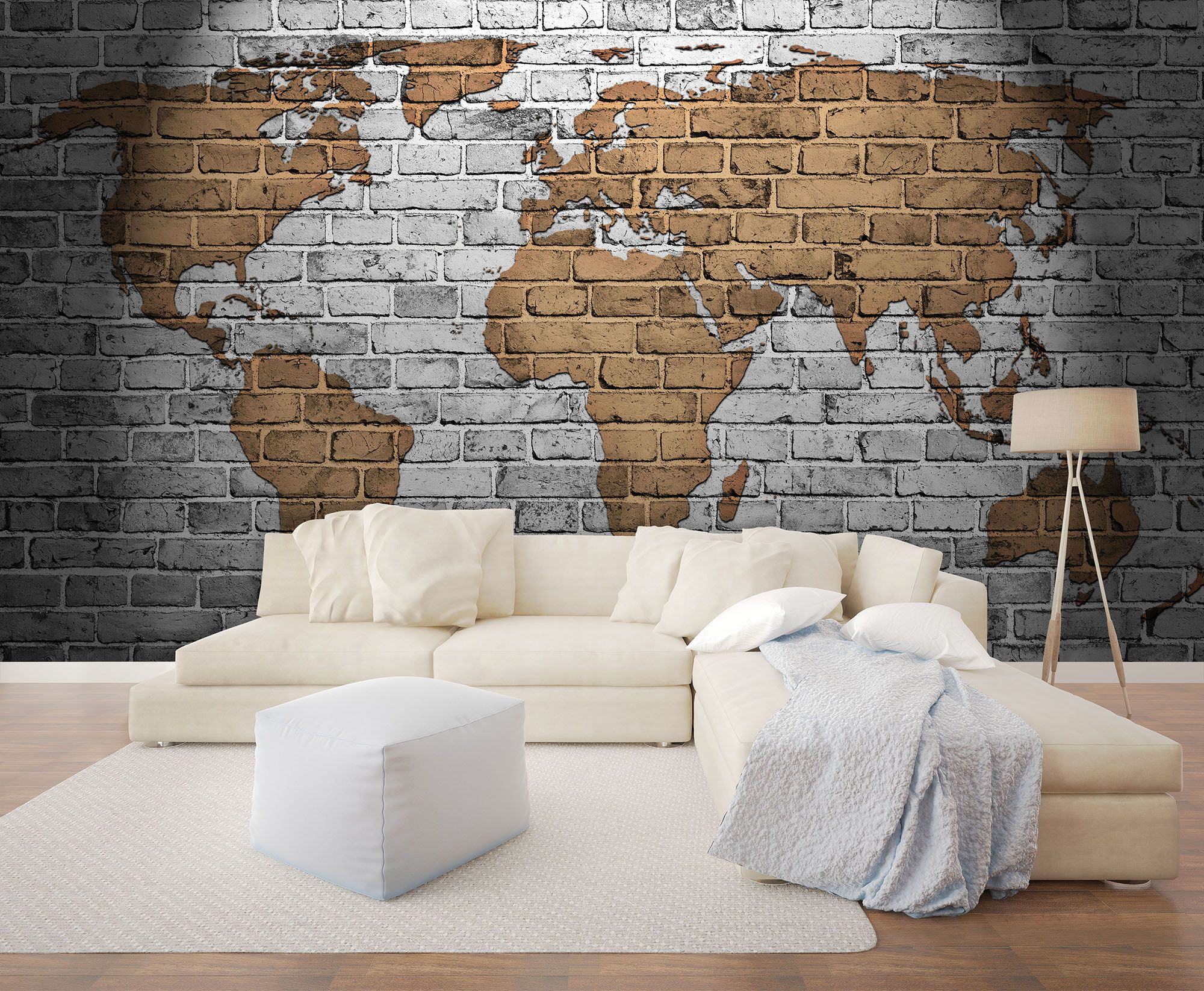World Map Wallpaper Mural Brick Effect Wallpaper Brick Effect Wallpaper World Map Wallpaper High Quality Wallpapers