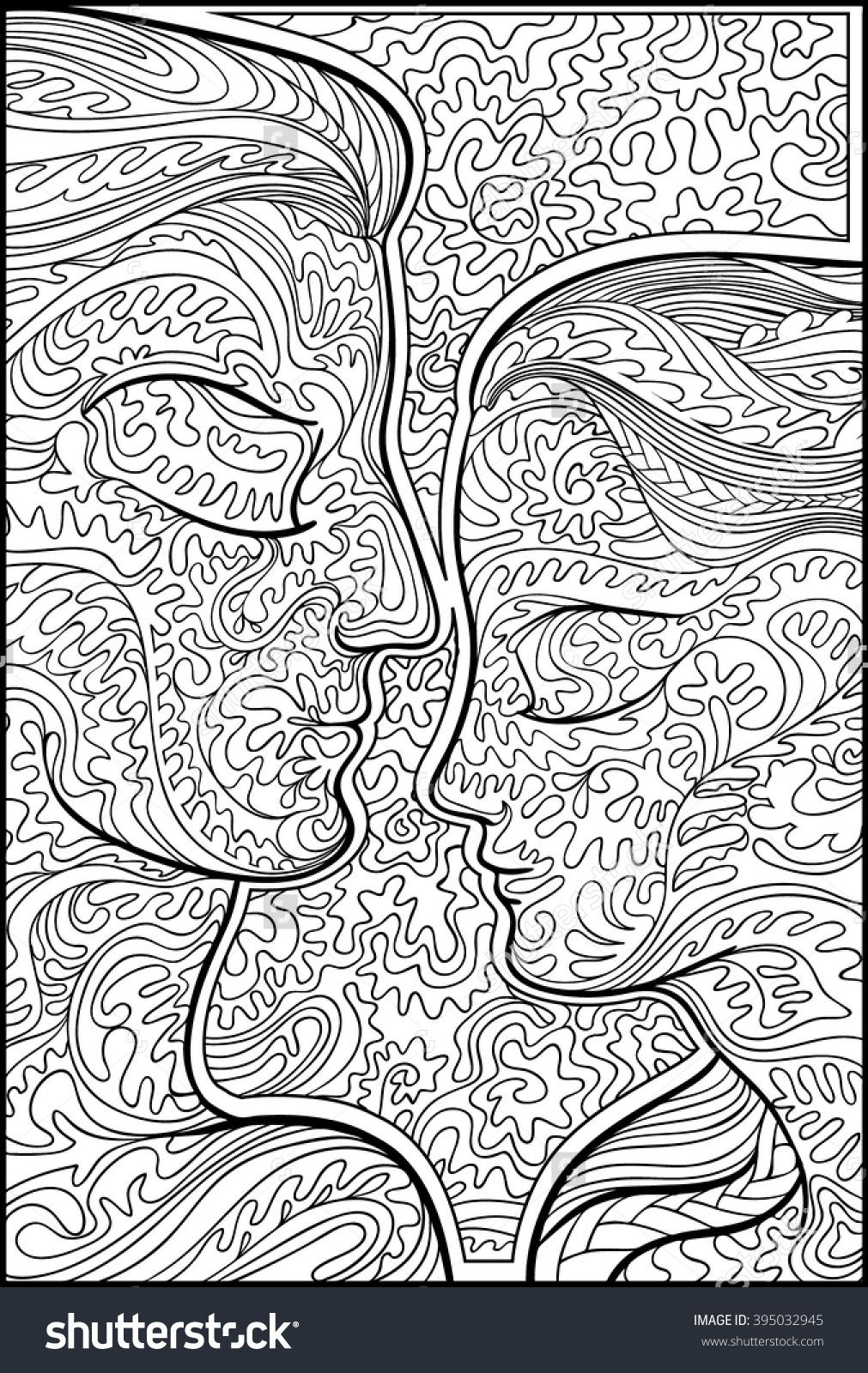 Man and woman coloring for adults shutterstock 395032945