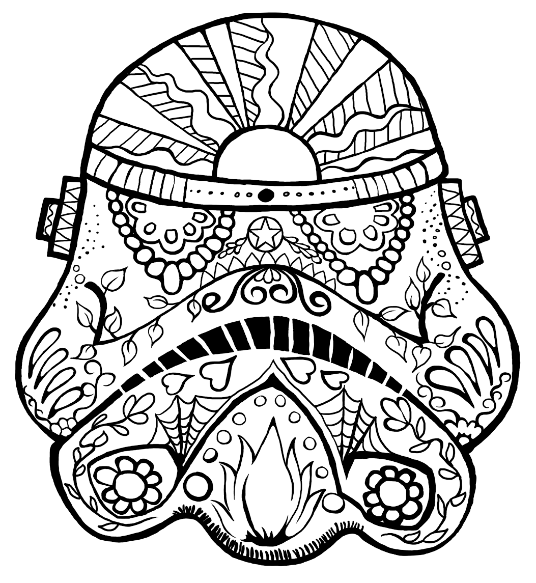 May The 4th coloring page and trace