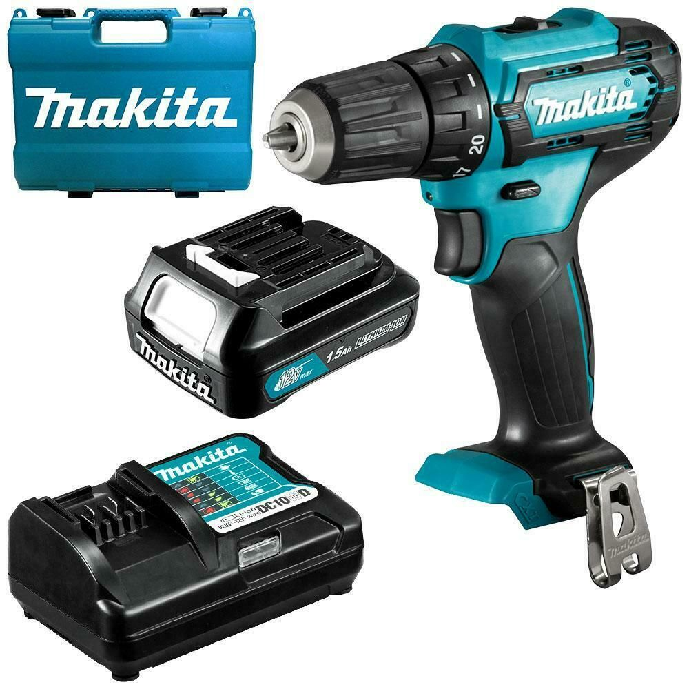 Makita Cordless Drill Combo Kit 12v Kit 1 5ah With Battery And Charger Case Tool In 2020 Combo Kit Drill Makita