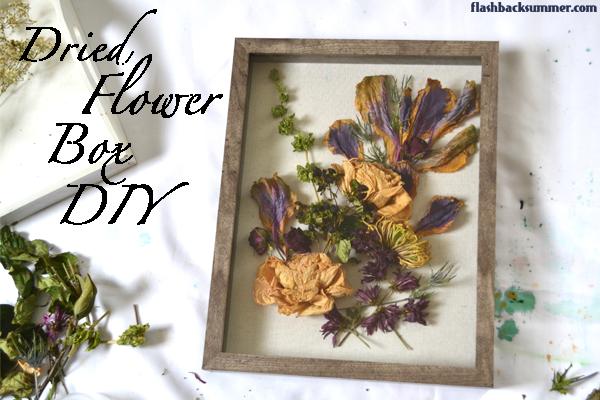 Flashback Summer Dried Flower Shadow Box DIY tutorial