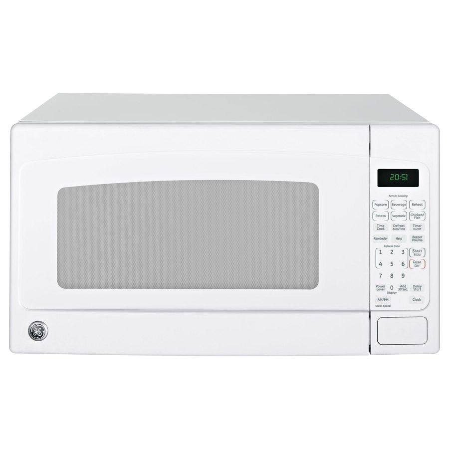 Ge 2 Cu Ft 1200 Countertop Microwave White At Lowes Com In 2020