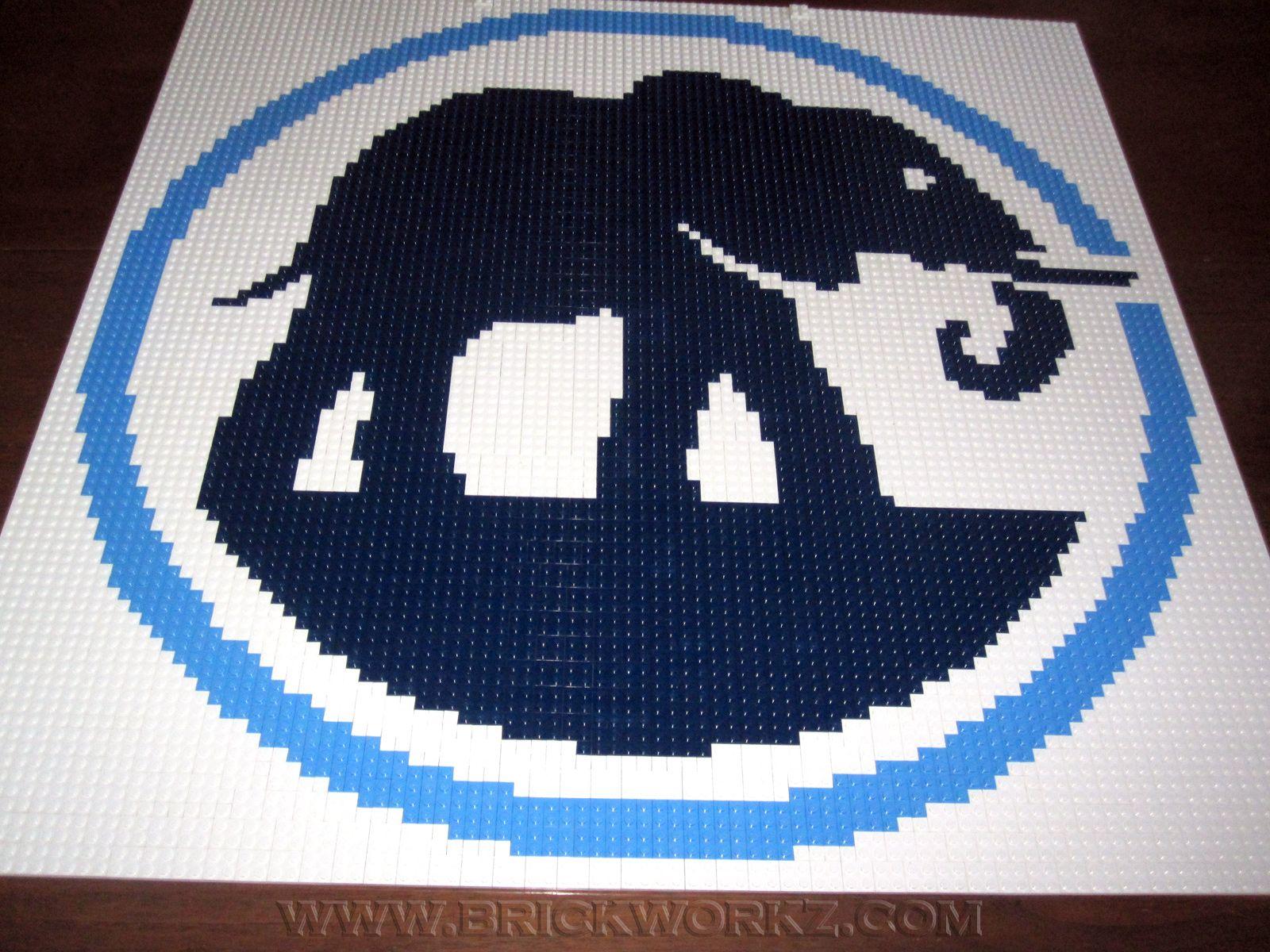 Elephant Auto Insurance 30 X 30 Three Colors Commissioned By Elephant Auto Insurance For Their Lobby Lego Mosaic Mosaic Portrait Mosaic Art
