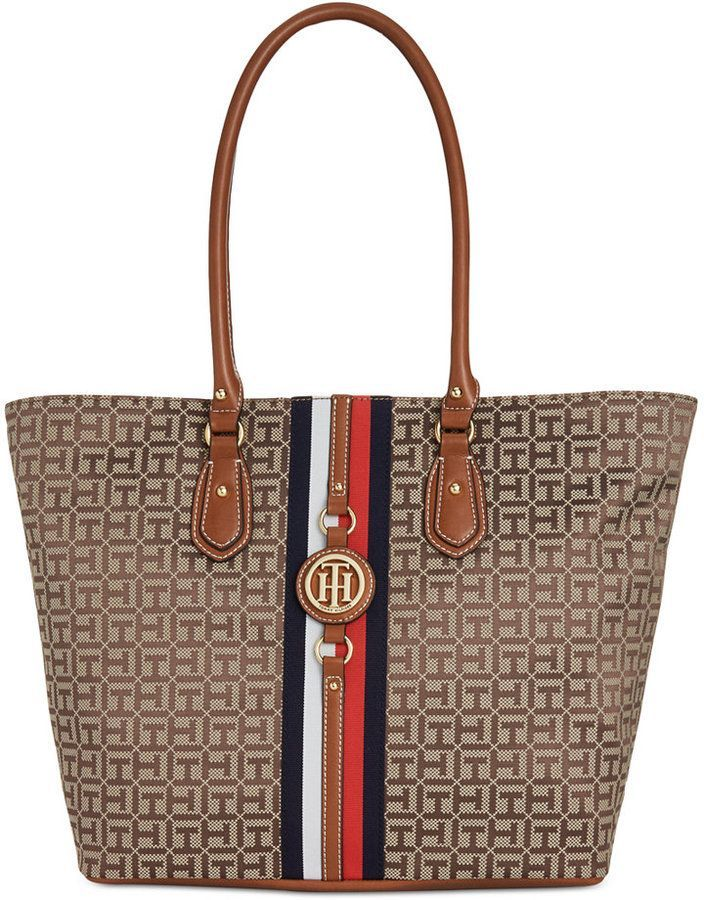 caba890a6 Tommy Hilfiger Jaden Monogram Jacquard Extra-Large Tote | Products ...
