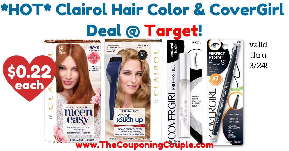 Hot Clairol Hair Color And Covergirl Deal Target Store Ads