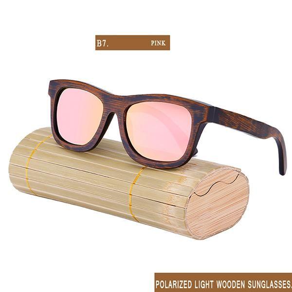 a07066634a RTBOFY Wood Sunglass Men Bamboo Sun Glasses Vintage Wood HD Polaroid Lens  Wooden Frame Handmade