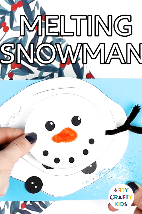 Craft meets play with this adorable Melting Snowman Paper Craft!This snowman will stretch, wobble and melt into a big white blob, bringing joy and fun to the creative process.  With a useful free template, it couldn't be easier to recreate the craft at home or within the classroom, and fits in beautifully with winter and Christmas craft themes #printable #snowman #christmascrafts #wintercrafts #papercrafts #kidscrafts