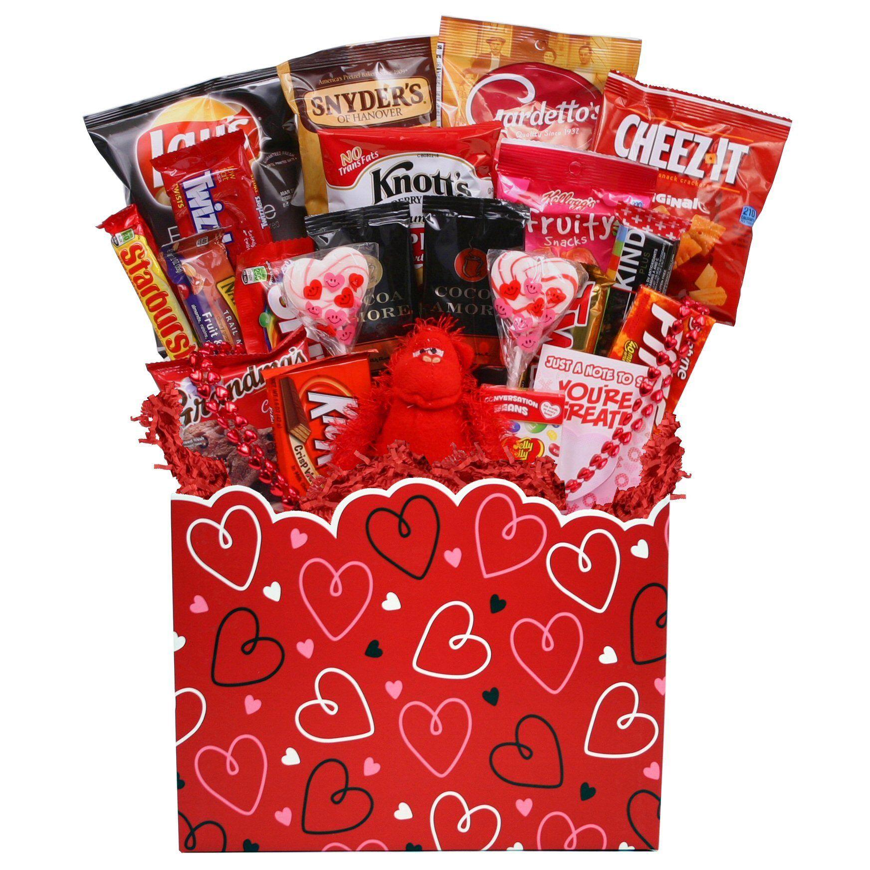 Heart full of love basket valentine gift baskets