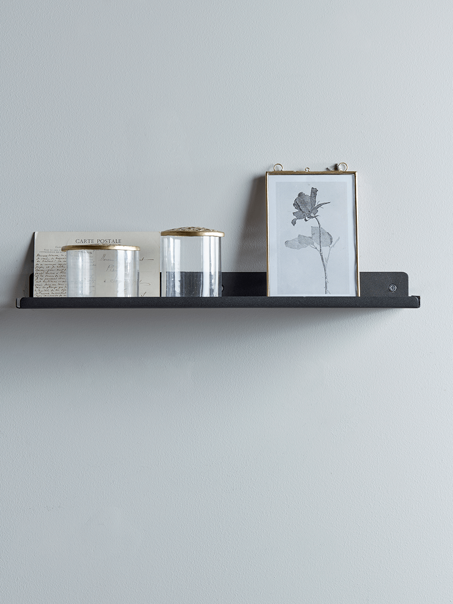 Slimline Metal Shelf - Black | Bathroom storage | Pinterest | Metal ...