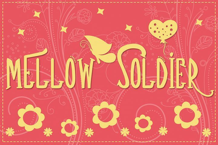 Download Fre Download Mellow Soldier Font Fonts - Fontbundles ...