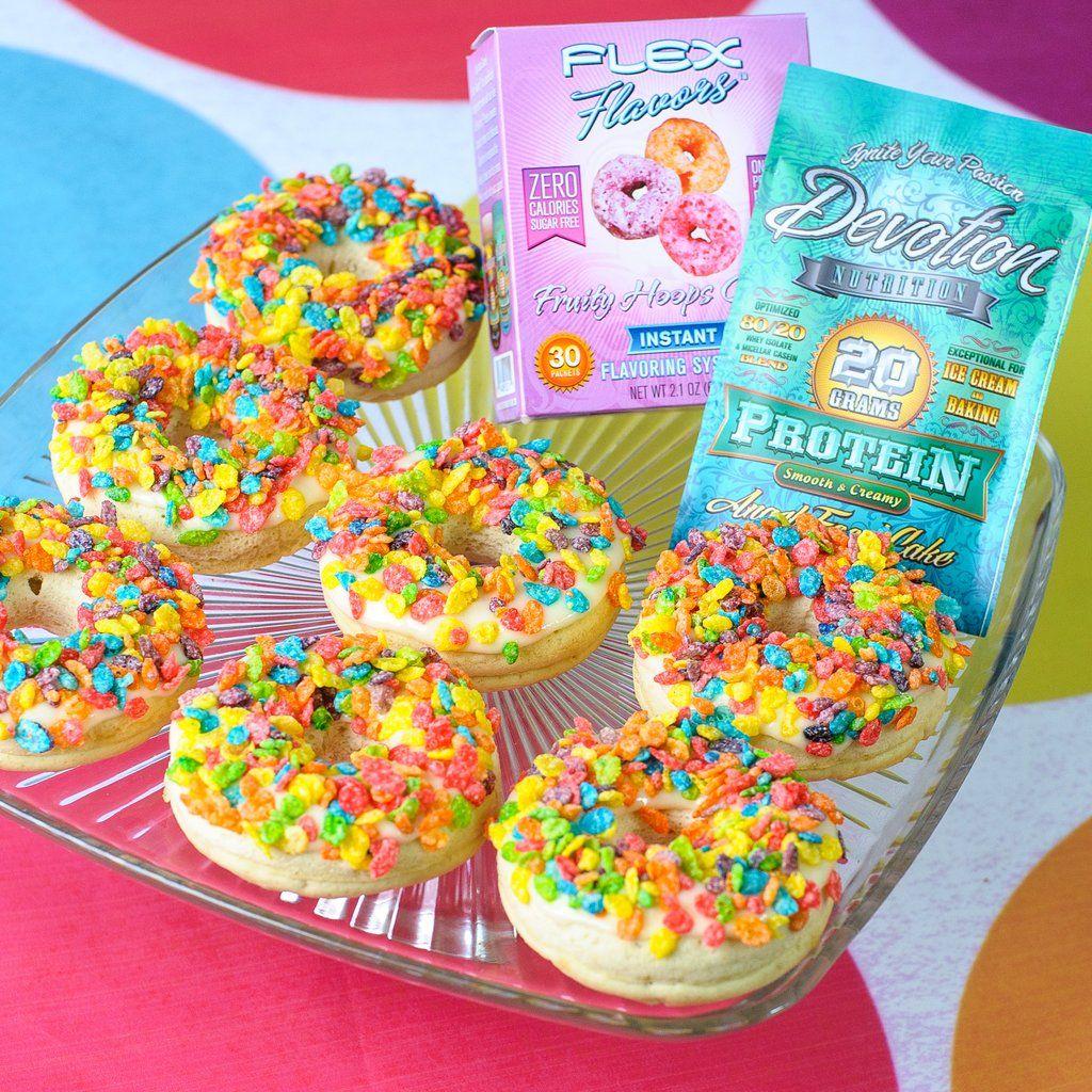 1 Scoop Devotion Nutrition Angel Food Cake Protein Powder 2 Flex Flavors Fruity Hoops Birthday Or Creme Brulee TBSP 14g Coconut Flour