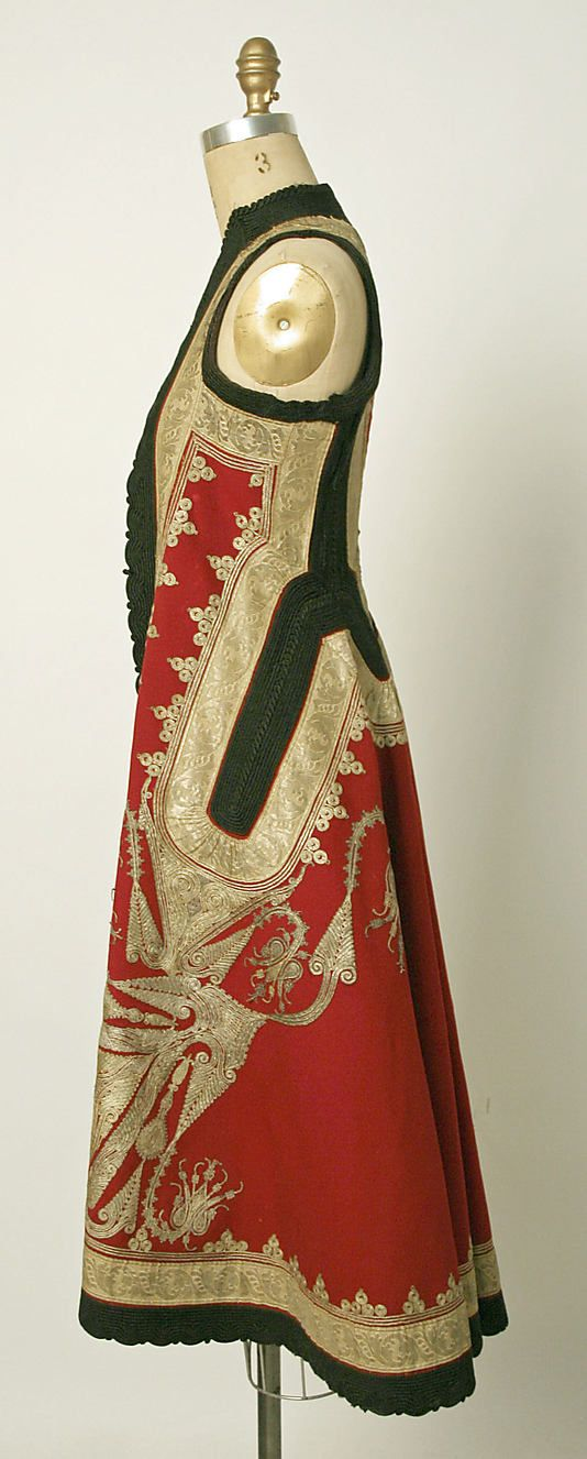 Part of a wedding ensemble. Date: late 19th century. Culture: Albanian. Medium: silk, cotton, metallic thread